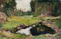 Edvard Munch - Forest Landscape with Small Lake