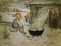 Edvard Munch Goblin with Christmas Porridge