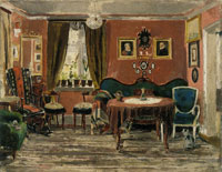 Edvard Munch The Living-Room of the Misses Munch in Pilestredet 61