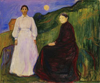 Edvard Munch Mother and Daughter