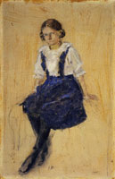 Edvard Munch Seated Young Girl