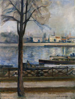 Edvard Munch The Seine at Saint-Cloud