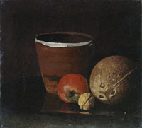 Edvard Munch Still Life with Jar, Apple, Walnut and Coconut
