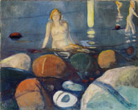 Edvard Munch Summer Night, Mermaid