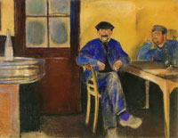 Edvard Munch At the Wine Merchant's