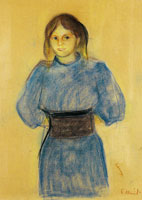 Edvard Munch Young Woman in Blue