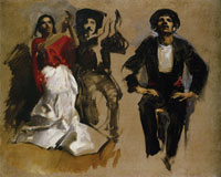 John Singer Sargent Study for Seated Figures, 'El Jaleo'