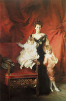 John Singer Sargent Mrs Cazalet and Children