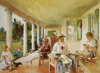 John Singer Sargent The Piazza or On the Verandah
