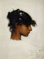 John Singer Sargent Head of Rosina