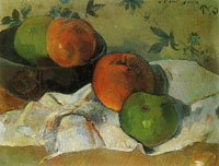 Paul Gauguin Apples and Bowl