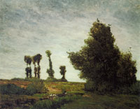 Paul Gauguin Landscape with Poplars