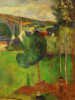 Paul Gauguin View of Pont-Aven from Lézaven