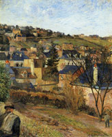 Paul Gauguin Blue Roofs, Rouen