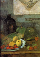 Paul Gauguin Still Life with Delacroix Drawing