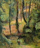 Paul Gauguin Sunken Path, Wooded Rise