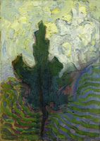 Piet Mondriaan Single Tree Silhouette