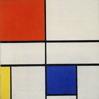 Piet Mondrian Composition C (No. III) with Red, Yellow, and Blue