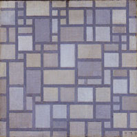 Piet Mondrian Composition with Grid 7