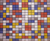 Piet Mondrian Composition with Grid 9: Checkerboard Composition with Light Colours