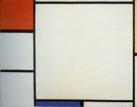 Piet Mondrian Composition with Red, Yellow, and Blue