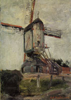 Piet Mondriaan Post Mill at Heeswijk, Rear View