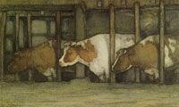 Piet Mondriaan Three Cows in a Pot Stall