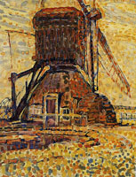 Piet Mondriaan The Winkel Mill, Pointillist Version