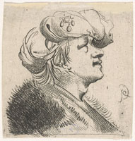 Pieter Quast Head of a Man with Bonnet