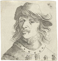 Pieter Quast Head of a Man with a Gorget