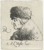 Pieter Quast Head of an Old Woman with Cap