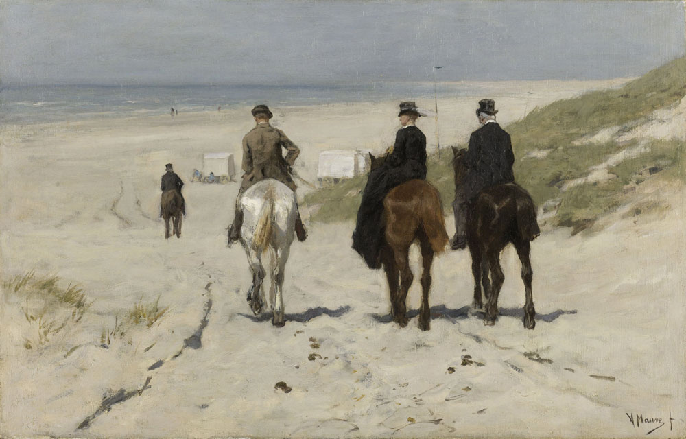 Anton Mauve - Morning Ride along the Beach