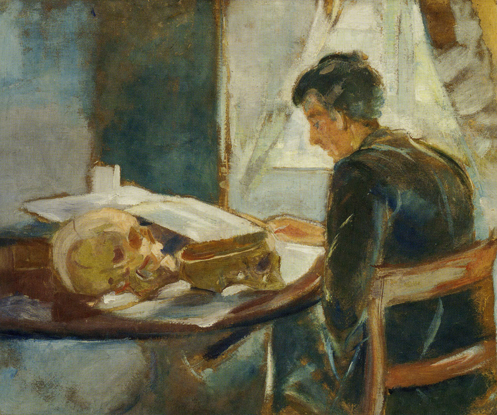 Edvard Munch - Andreas Munch Studying Anatomy