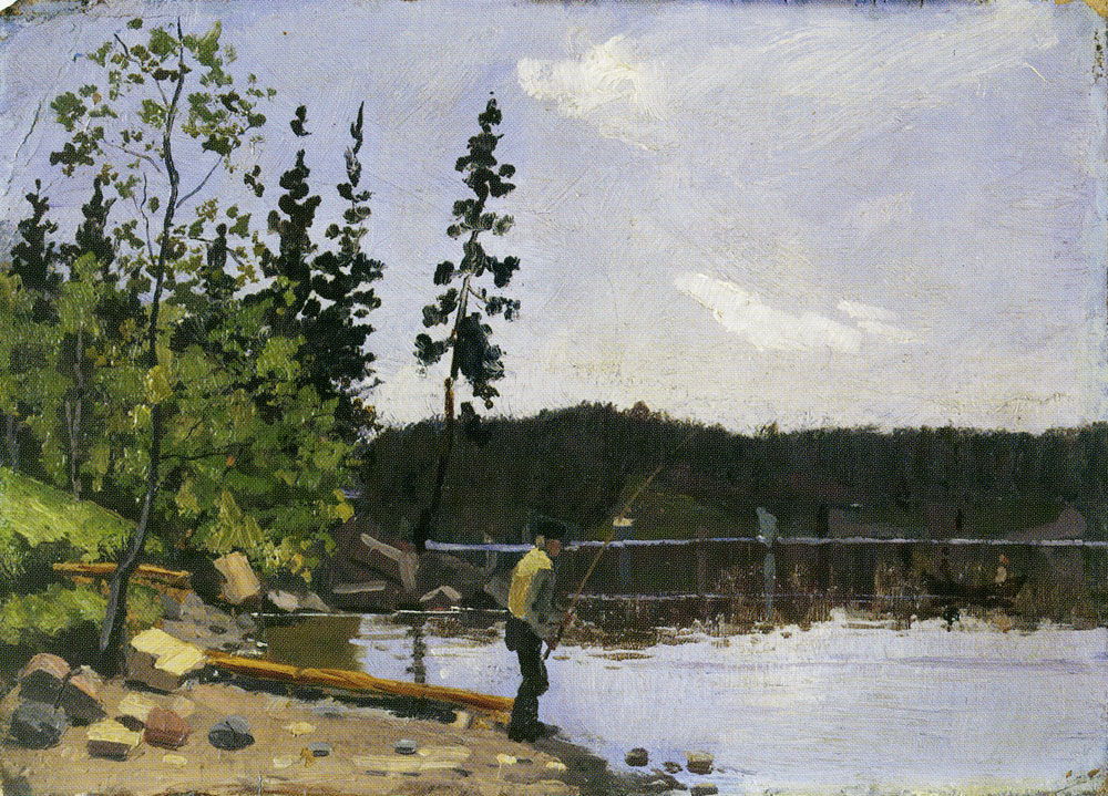 Edvard Munch - Fisherman by the Water