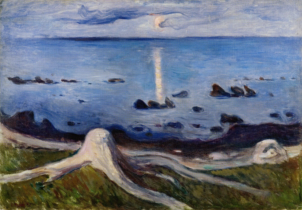 Edvard Munch - Mystery on the Shore