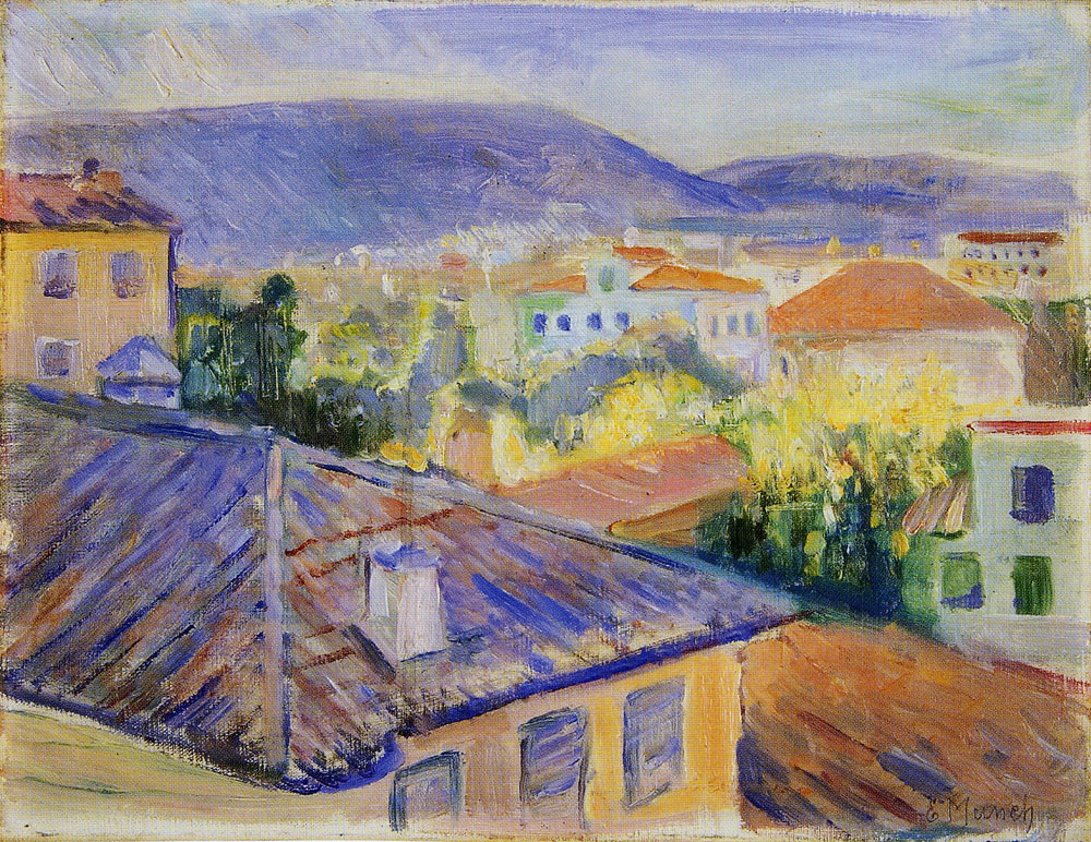 Edvard Munch - Rooftops in Nice