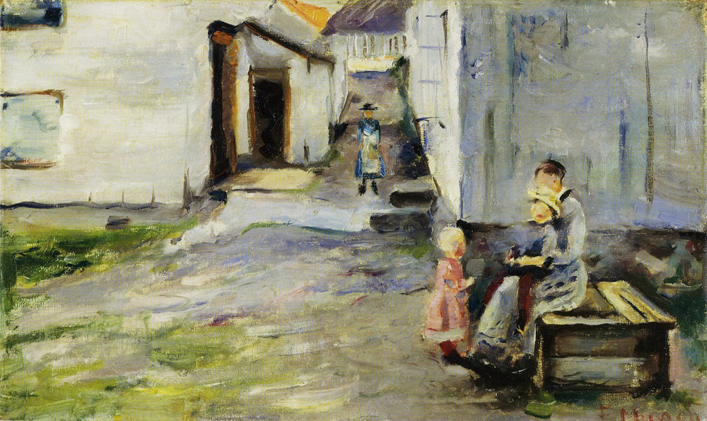 Edvard Munch - Woman and Children in Arendal