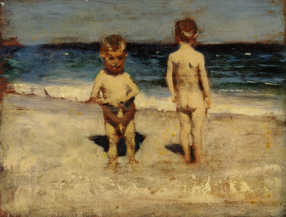 John Singer Sargent - Two Boys on a Beach, Naples
