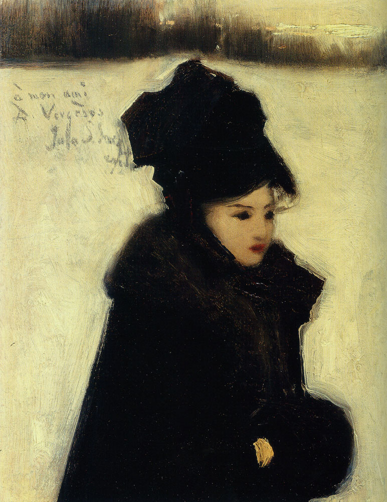 John Singer Sargent - Woman in Furs