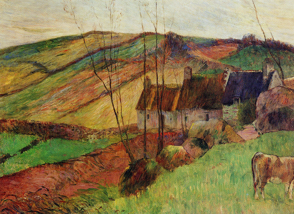 Paul Gauguin - Cottages on Mount Sainte-Marguerite