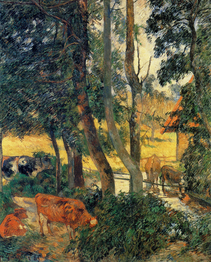Paul Gauguin - Cows at the Watering Place