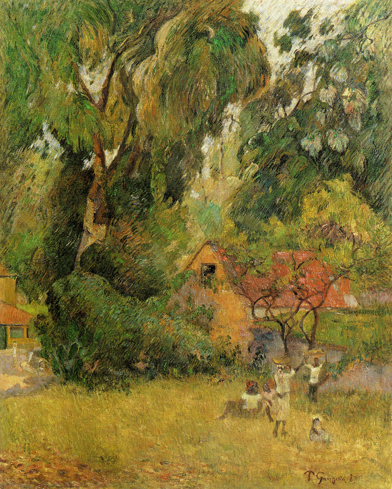 Paul Gauguin - Martinican Scene with Mango Tree