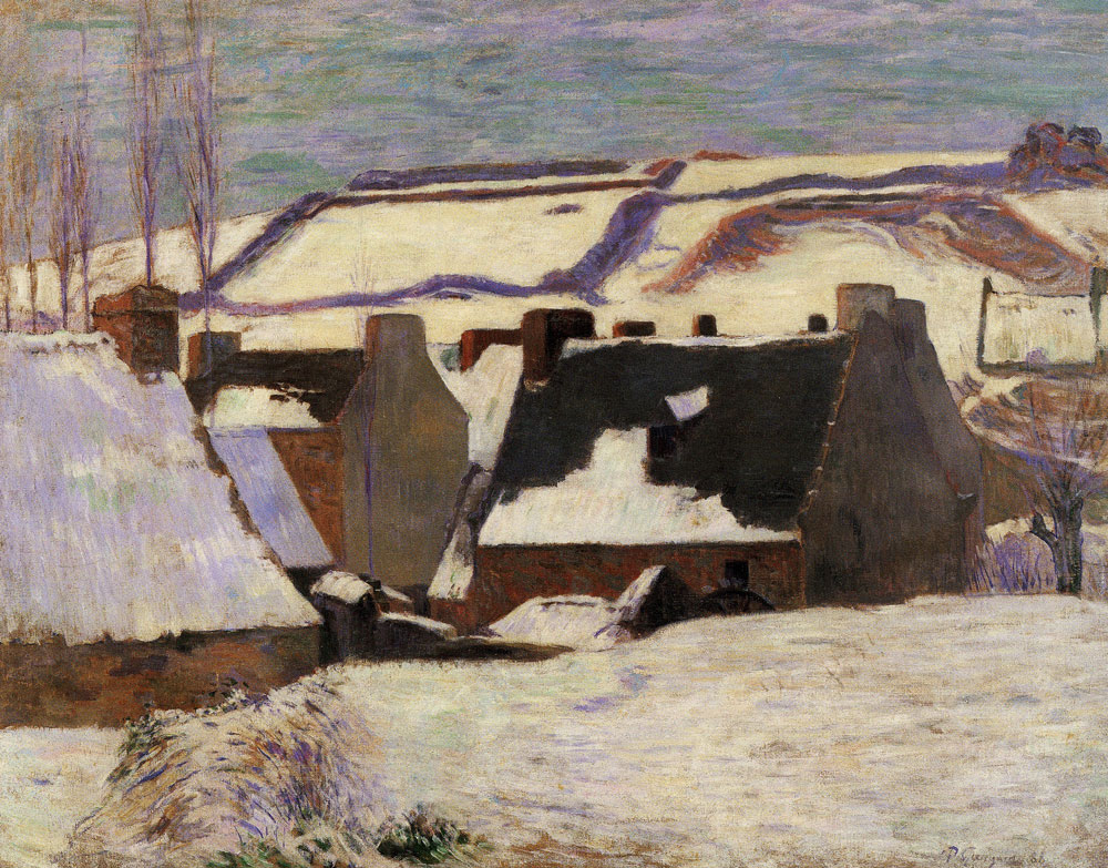 Paul Gauguin - Pont-Aven in the Snow