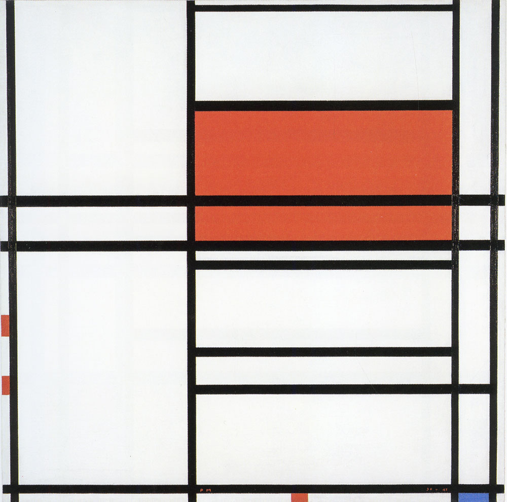 Piet Mondrian - Composition No. 4, with Red and Blue