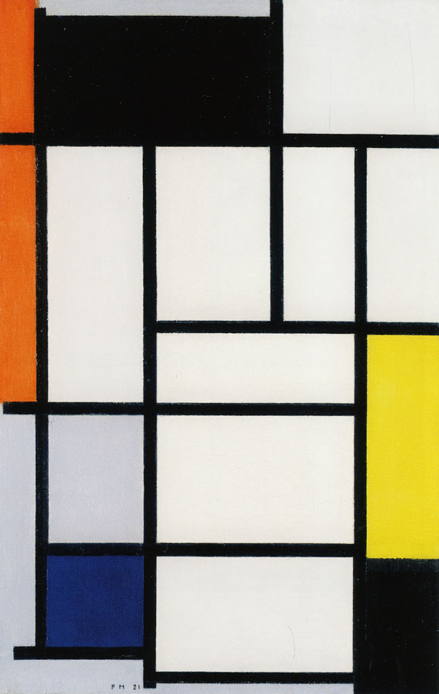 Piet Mondrian - Composition with Red, Black, Yellow, Blue, and Gray