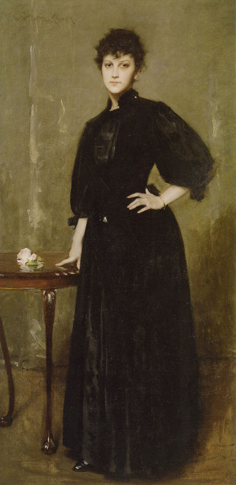 William Merritt Chase - Portrait of Mrs. C.