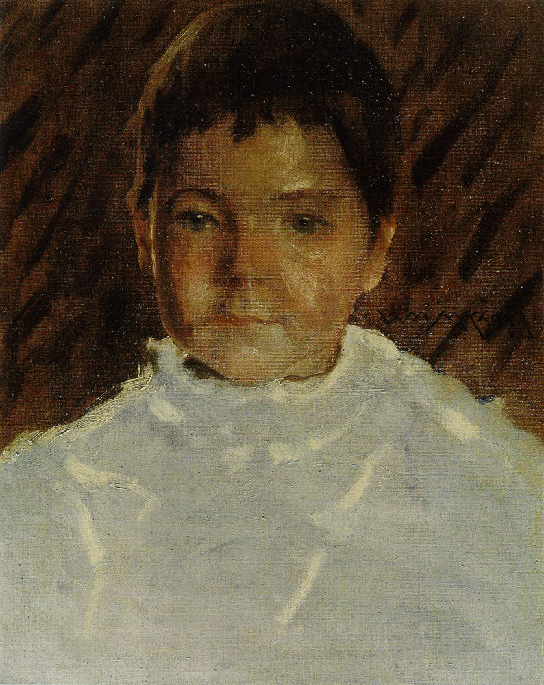 William Merritt Chase - Study of a Boy's Head (Robert Stewart Chase)