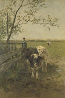 Anton Mauve The Milking Yard