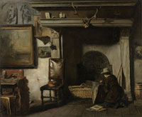 Anton Mauve The Studio of the Haarlem Painter Pieter Frederik van Os