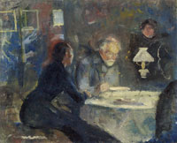 Edvard Munch At Supper